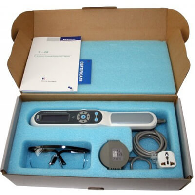 The Psoriasis Phototherapy Lamp safely treats localized or mild psoriasis using ultraviolet light 1