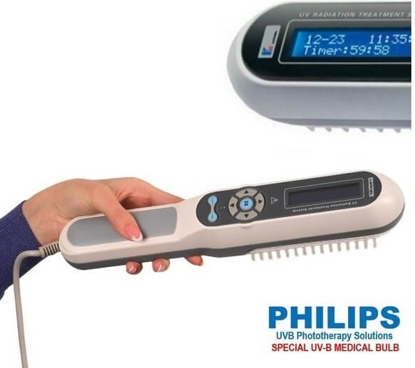Light Therapy For Psoriasis At Home: Vitiligo UVB Lamp With LCD Automatic Timer