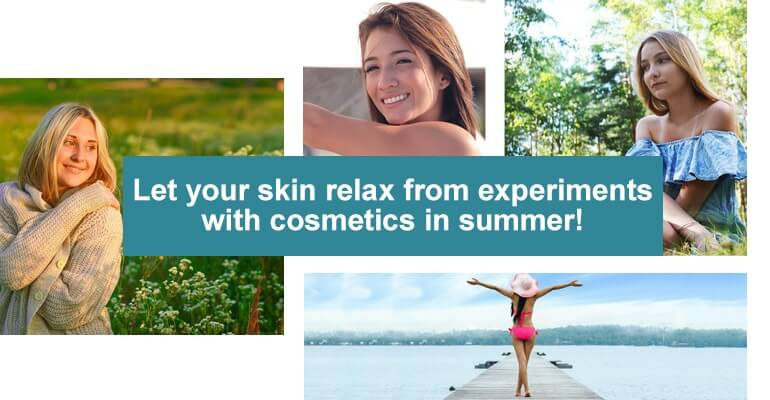 cosmetics in summer!